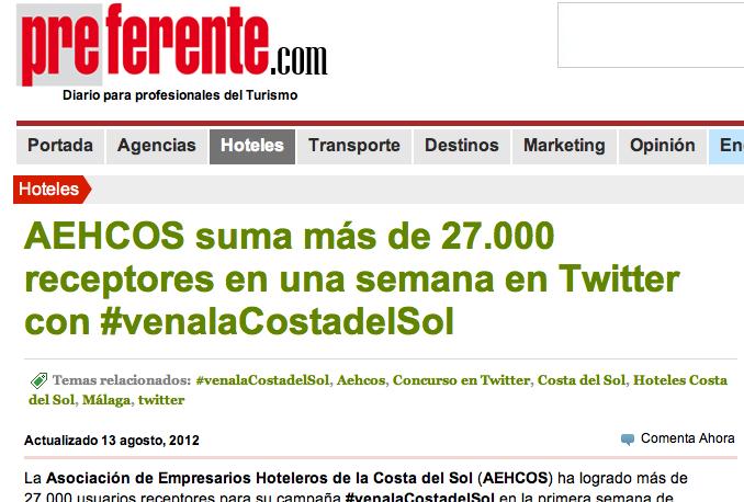 Resultados campaña AEHCOS en Twitter