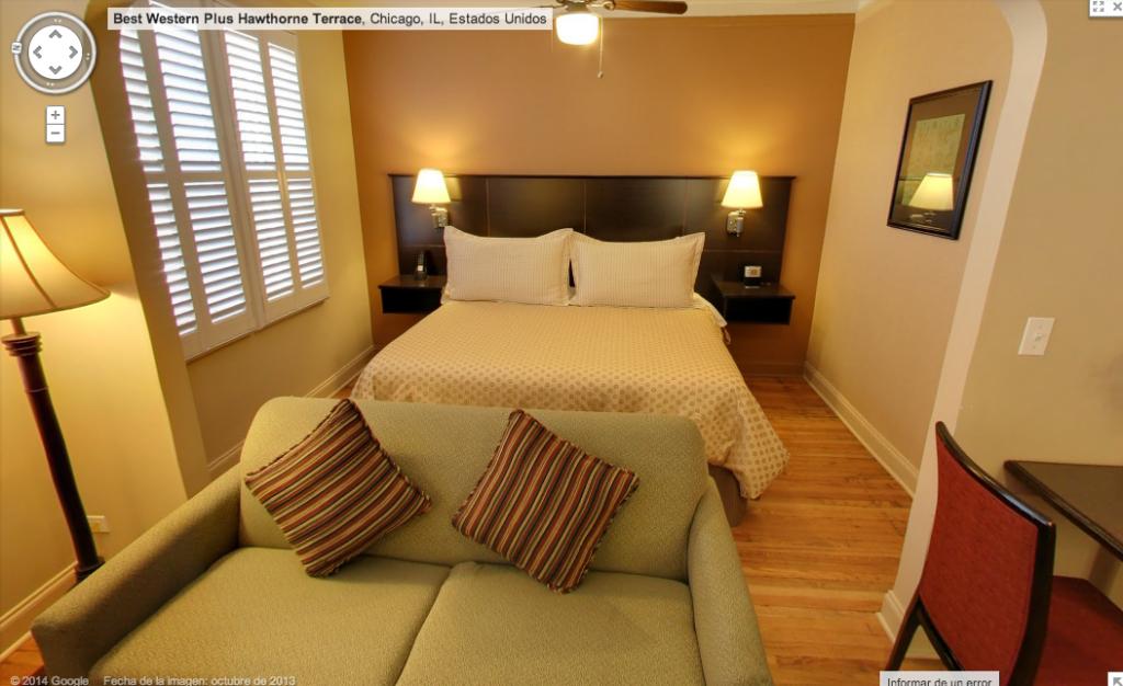 Google Street View y los hoteles.