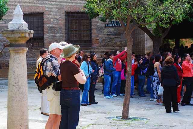 Turistas en Málaga (foto: montuno).